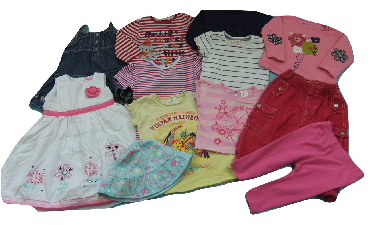 ubranka dla dziewczynki 9-12m+ 74/80cm zestaw 12sz