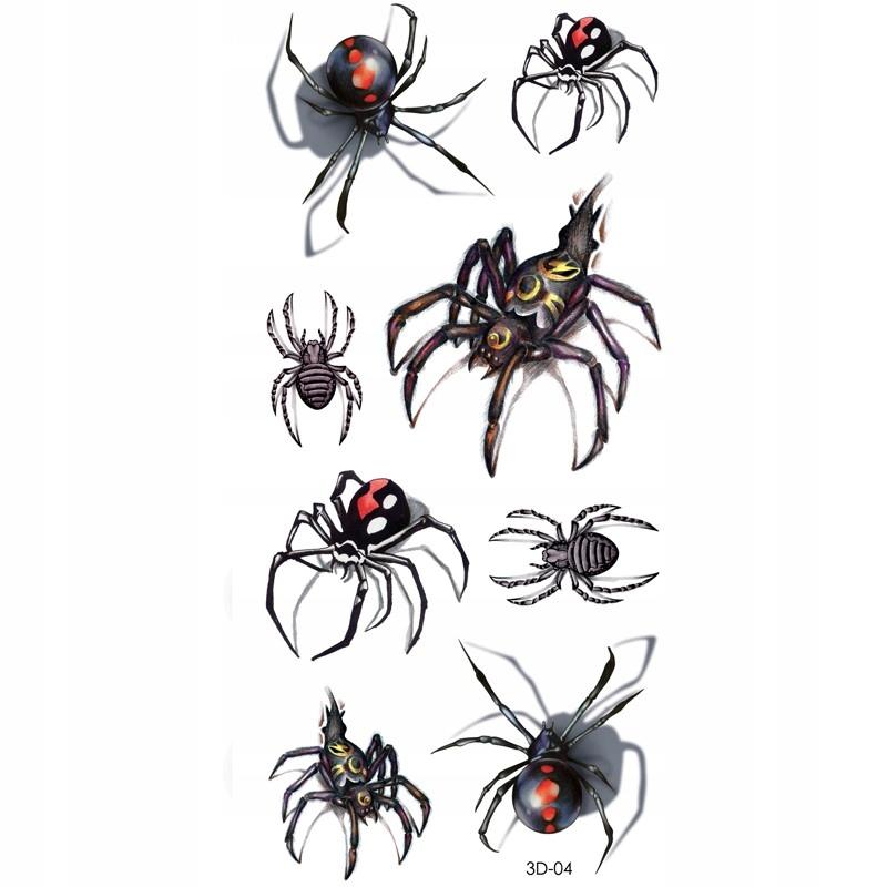 Tatuaż Tymczasowy Spider Pająk Pajęczyna Tarantula