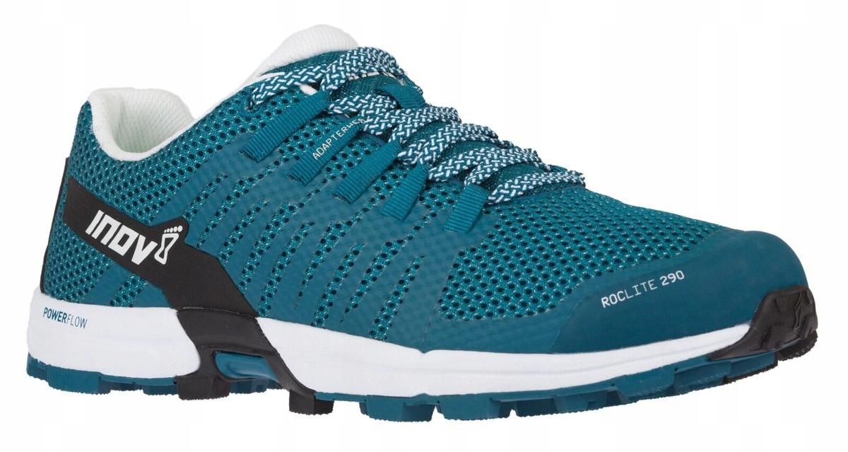 Buty inov-8 roclite 290 niebiesko-zielono-białe