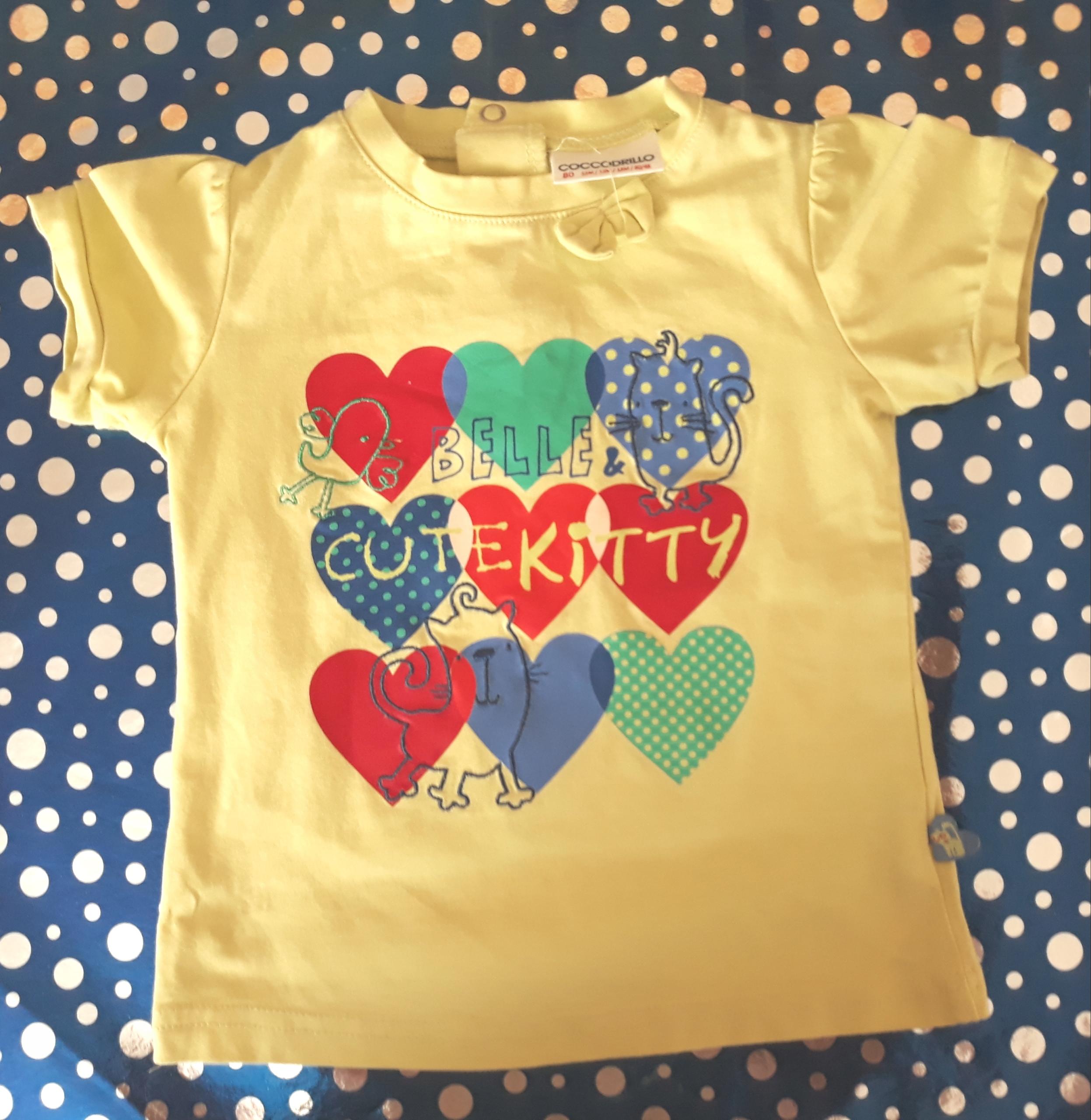 80 86 2lata t-shirt bluzka koszulka Cocodrillo
