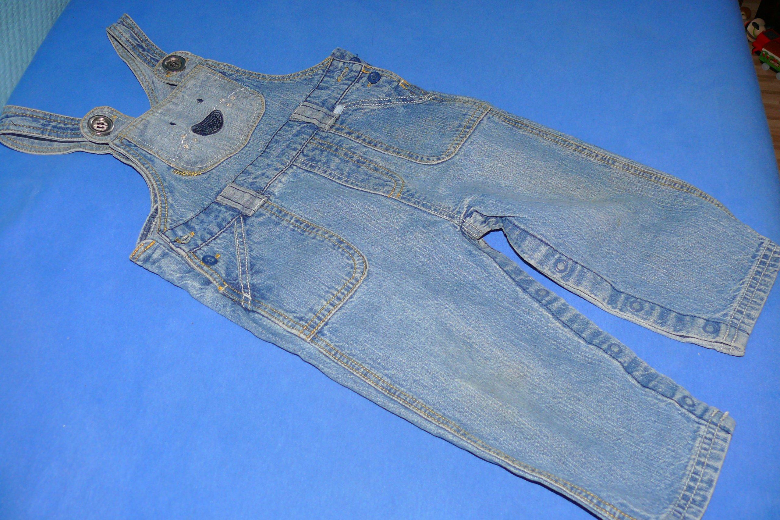 GEORGE spodnie dżinsowe grodniczki 9-12 m 80