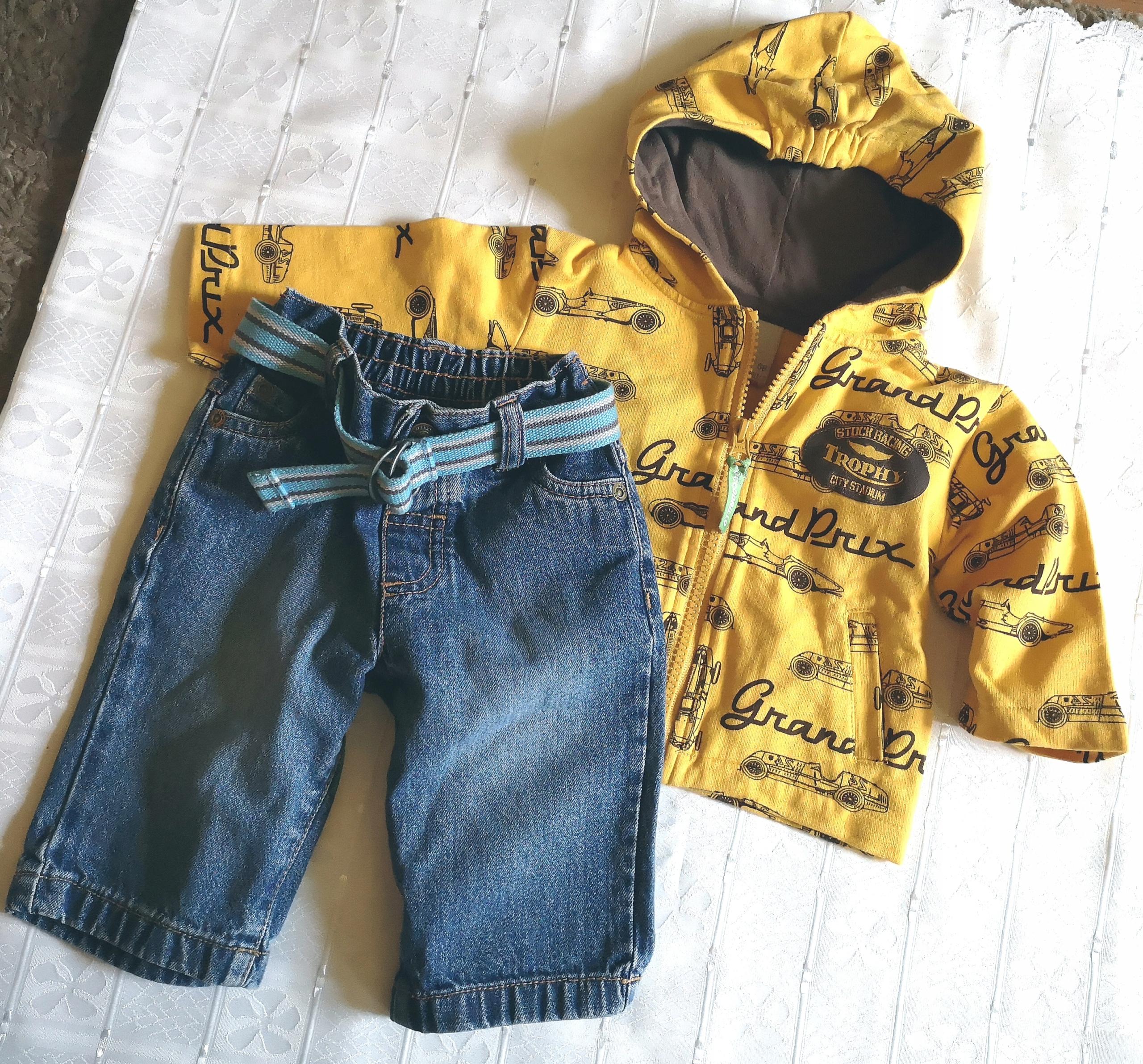 BLUZA Coccodrillo + jeansy 3-6 m