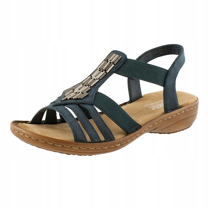 Sandały damskie lekkie na koturnie 41