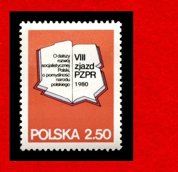 2525 zn cz** 1980 VIII Zjazd PZPR