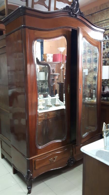 Stara szafa stylowa drewniana z lustrem