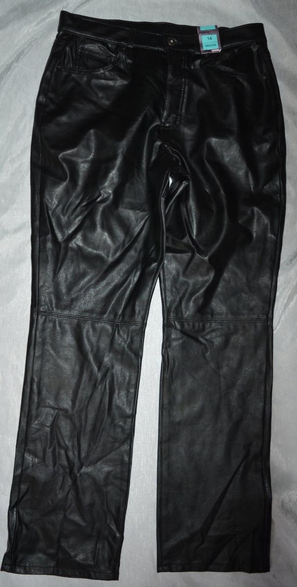g* Spodnie eco skóra prosta nogawka 42