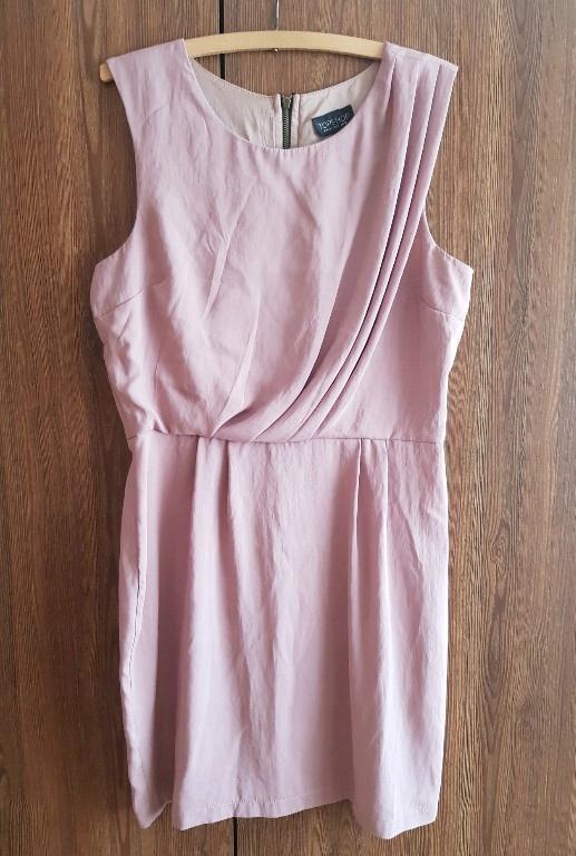 TOPSHOP sukienka pudrowa 12 40 L M