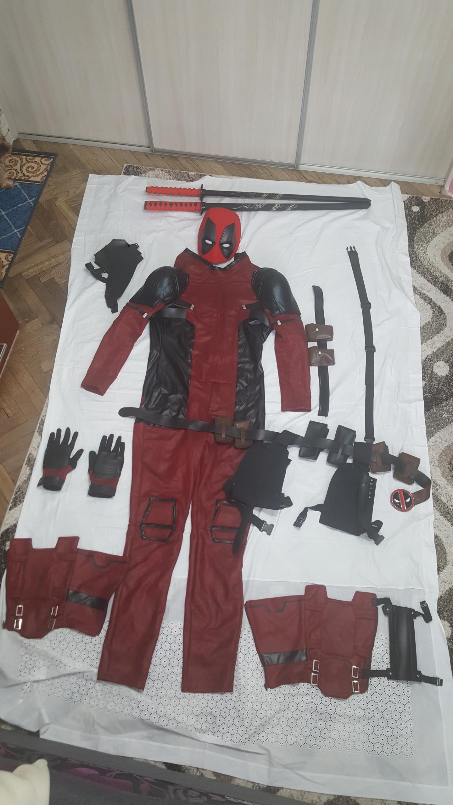 c80387928480af Kostium Deadpool Marvel, maska, miecze - 7937570672 - oficjalne ...