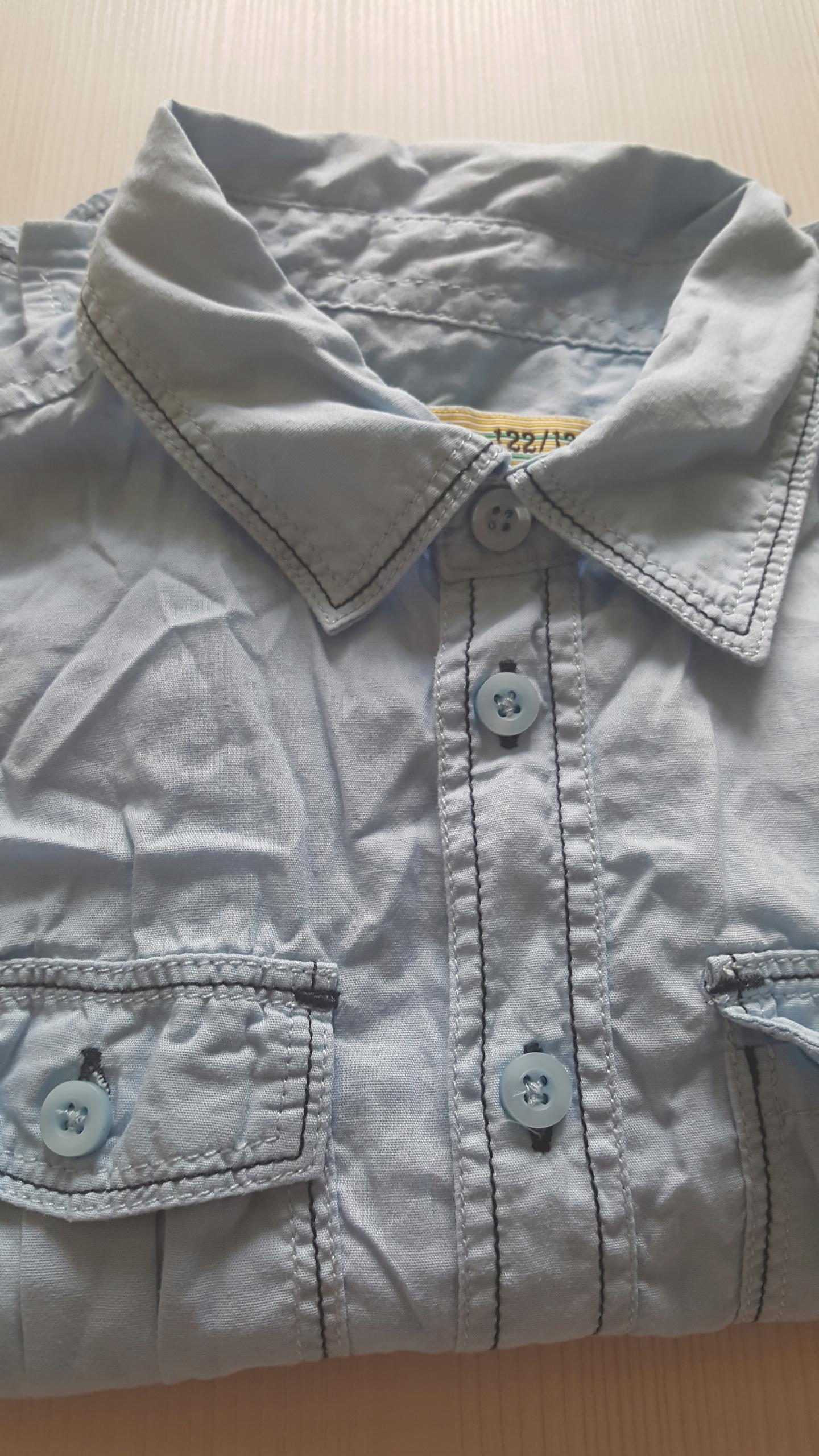 122 / 128 koszula modna j nowa błękit super