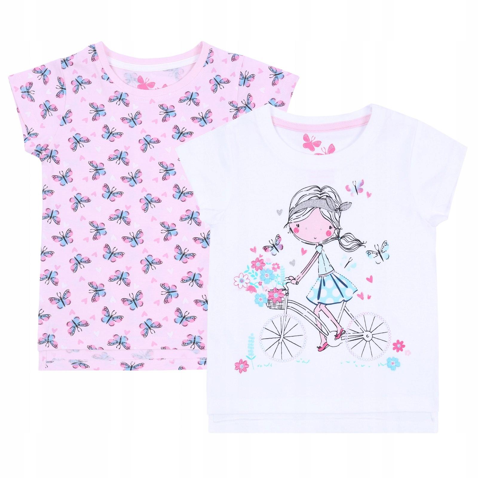2 x Biało-różowa bluzeczka PRIMARK 5-6 lat 116 cm