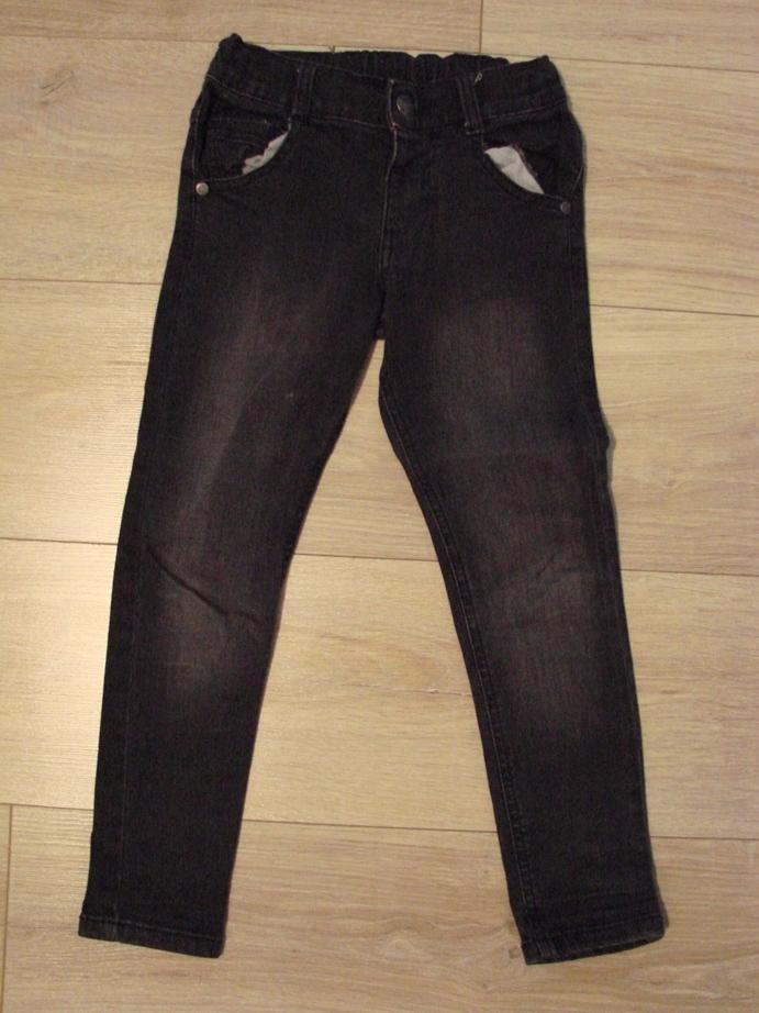 Zestaw spodni 122 H&M rurki 2 sztuki jeansy