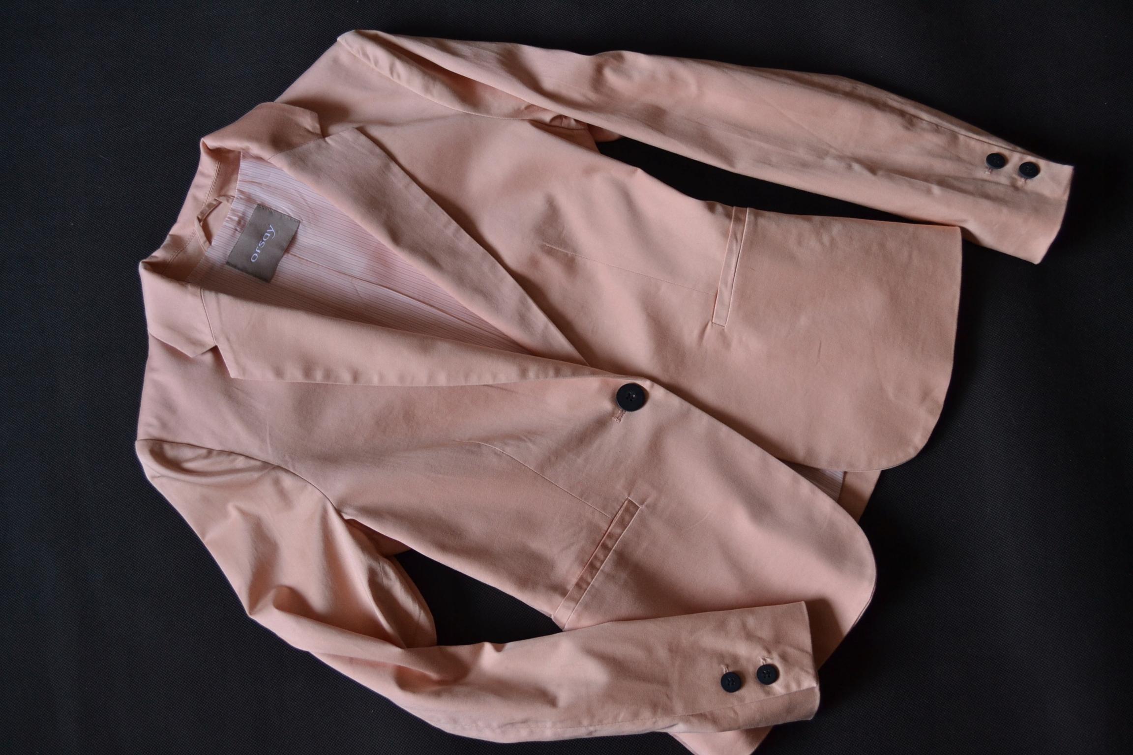 ORSAY - łososiowy letni bawełniany żakiet *36*