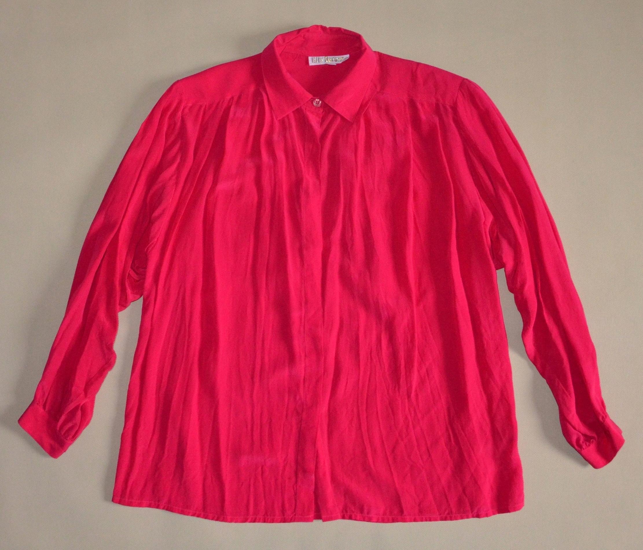 11df1df8 LILLY FLORENCE jedwabna koszula retro rozmiar 40