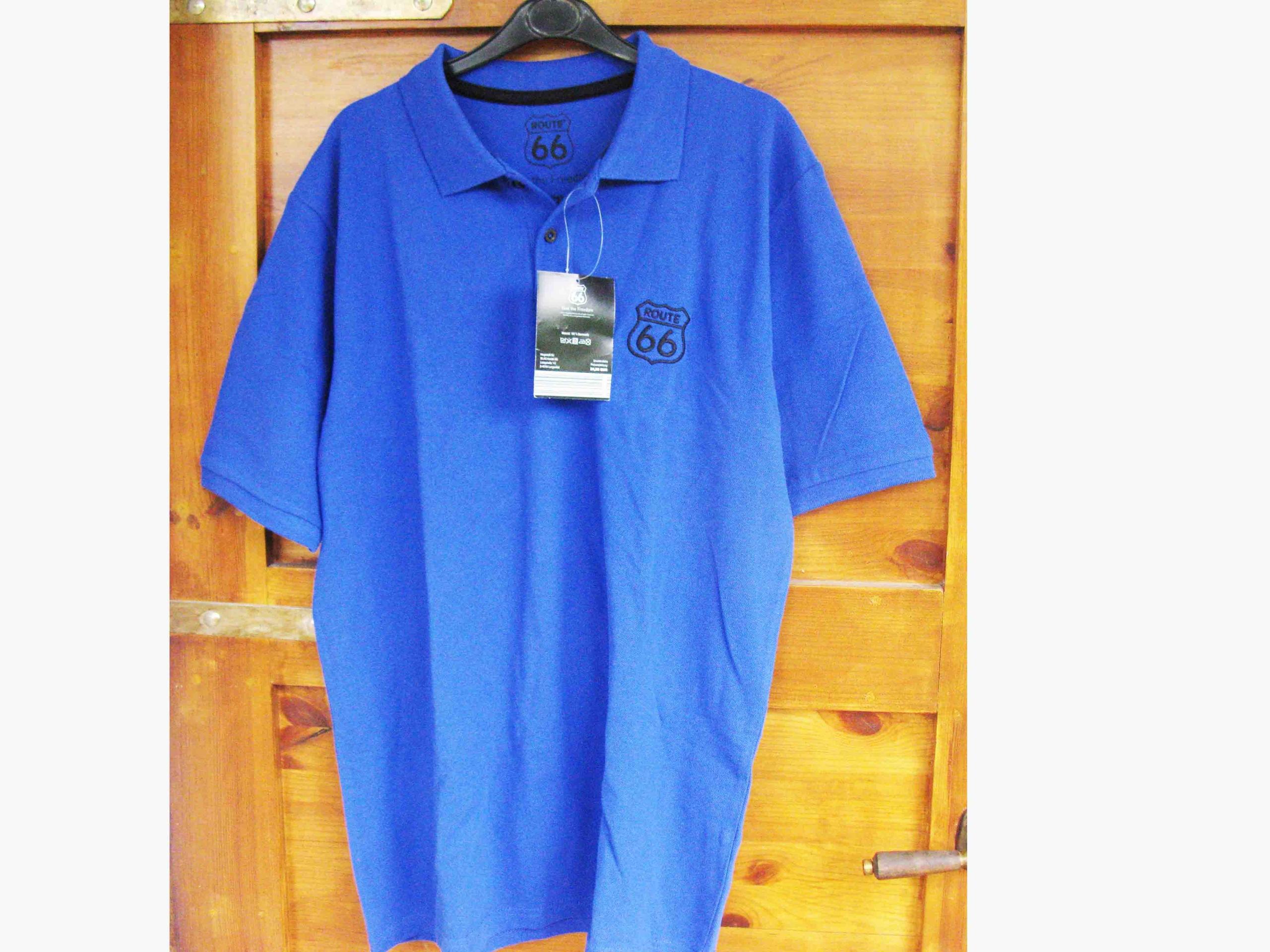 Koszulka POLO ROUTE 66 - granatowa bawełna NOWA!!