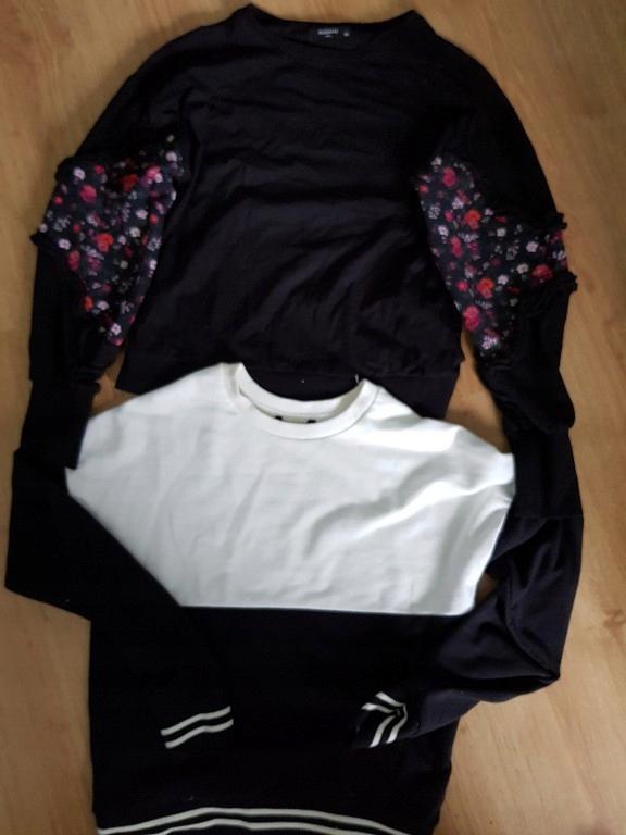 Dwie bluzy krótkie reserved bawelna XS 34