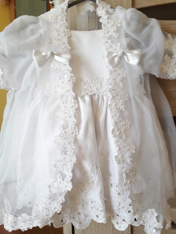 sukienka chrzest 6 m nowa