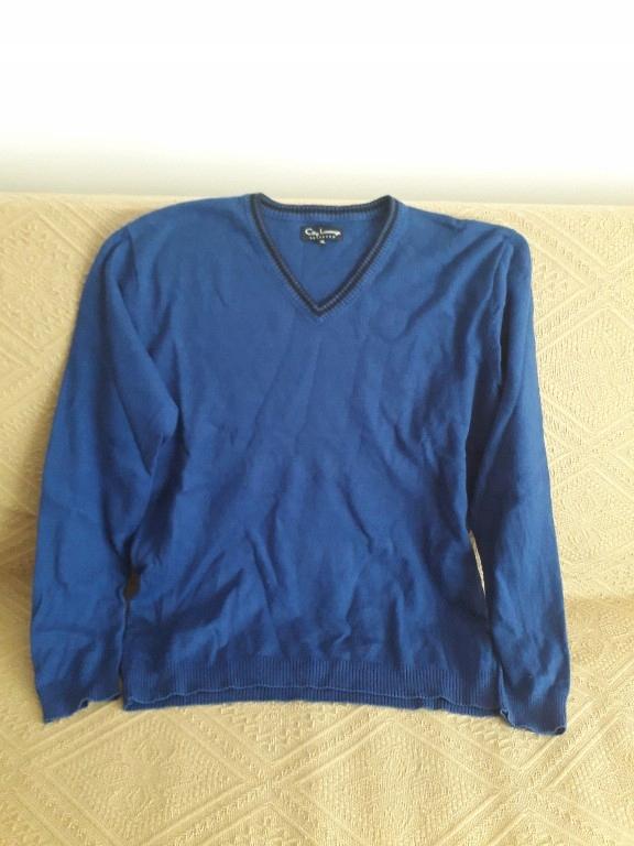 sweter Reserved granatowy XL w serek ściągacz