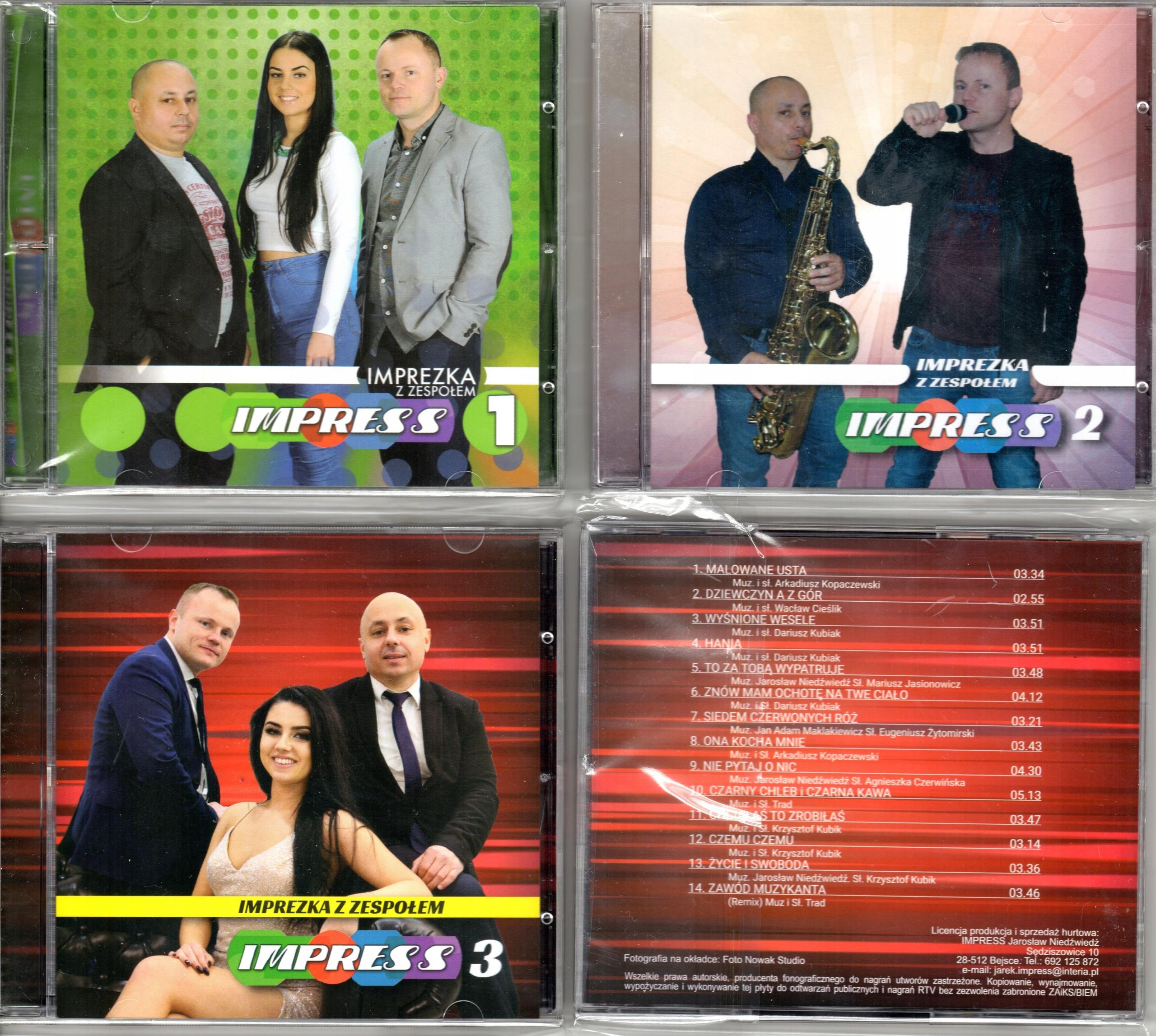 IMPREZKA Z ZESPOŁEM IMPRESS 3 CD