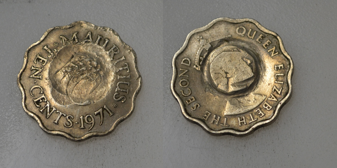 Mauritius 10 Cents 1971 rok BCM