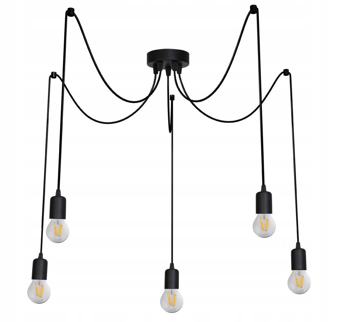 Lampa sufitowa wisząca Pająk żyrandol Loft E27 LED