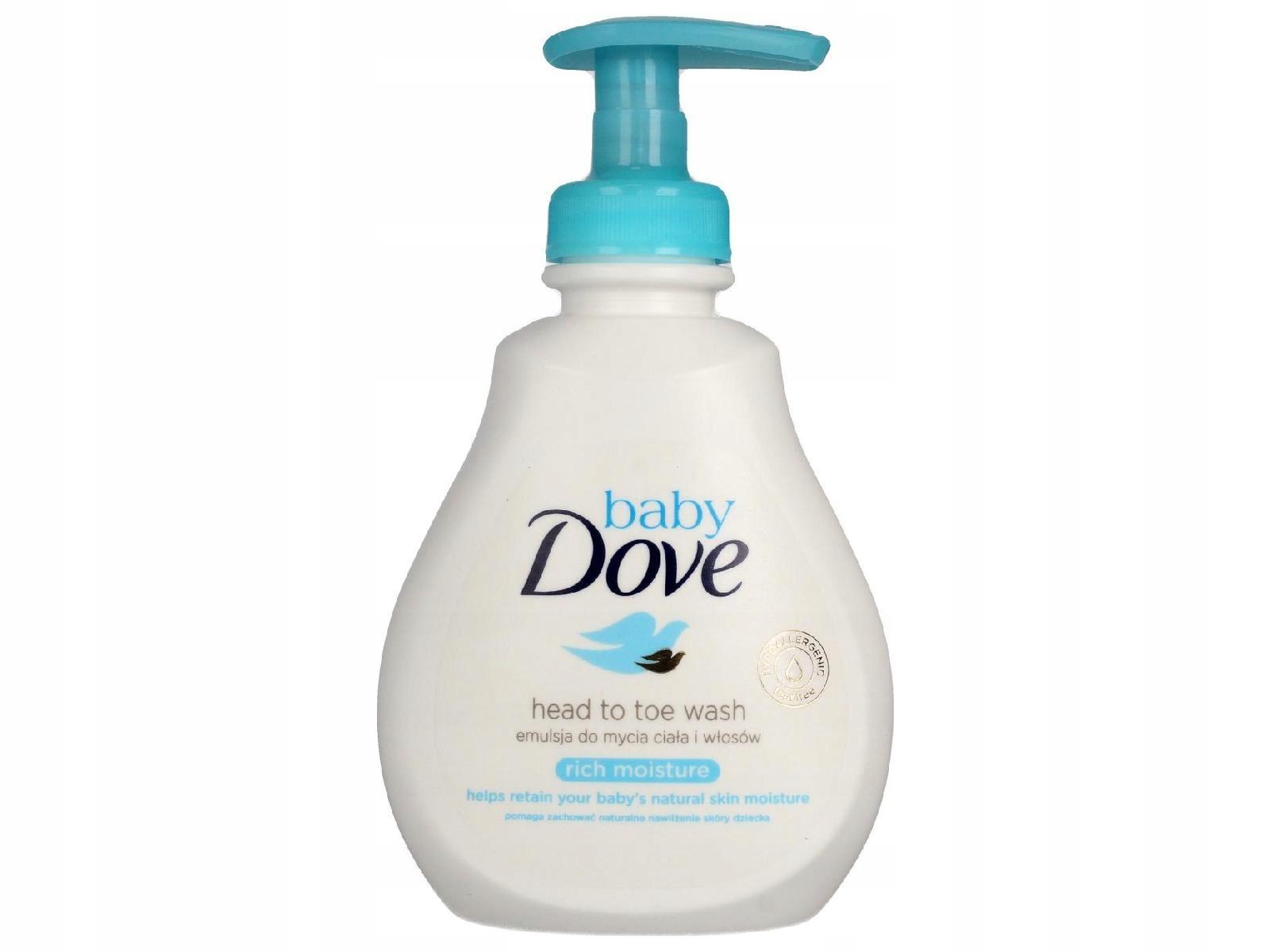 Dove Baby Emulsja nawilżająca do mycia ciała 200ml