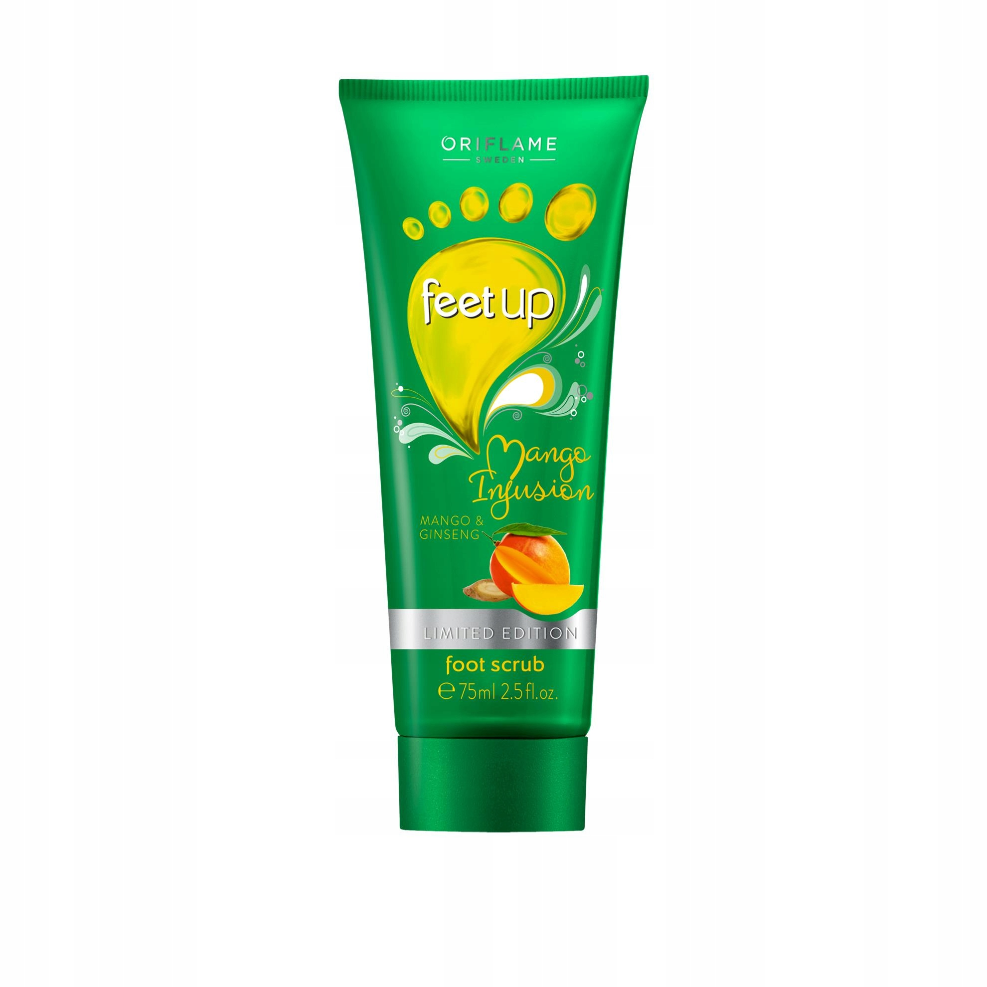 Scrub do stóp z mango i żeń-szeniem Feet Up Mango