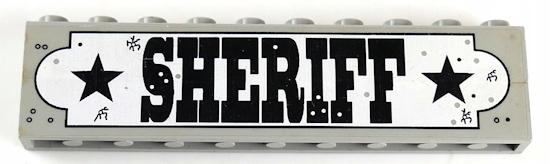 8semka LEGO SZERYF SHERIFF BRICK Z NAKLEJKĄ