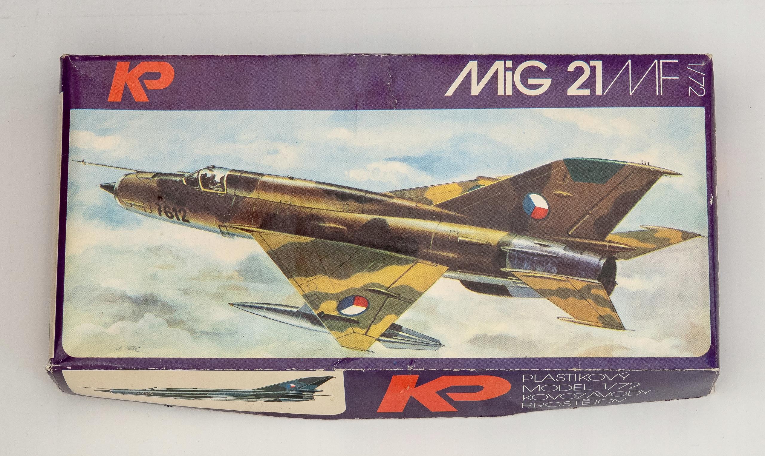 MIG - 21MF model do sklejania KP Czechosłowacja
