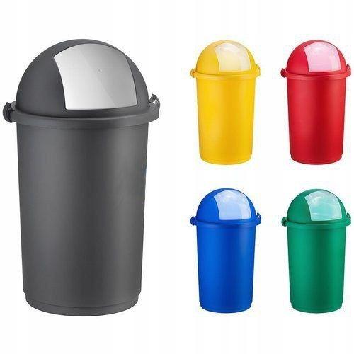 POJEMNIK NA ODPADY PUSH NIEBIESKI śmieci segregacj