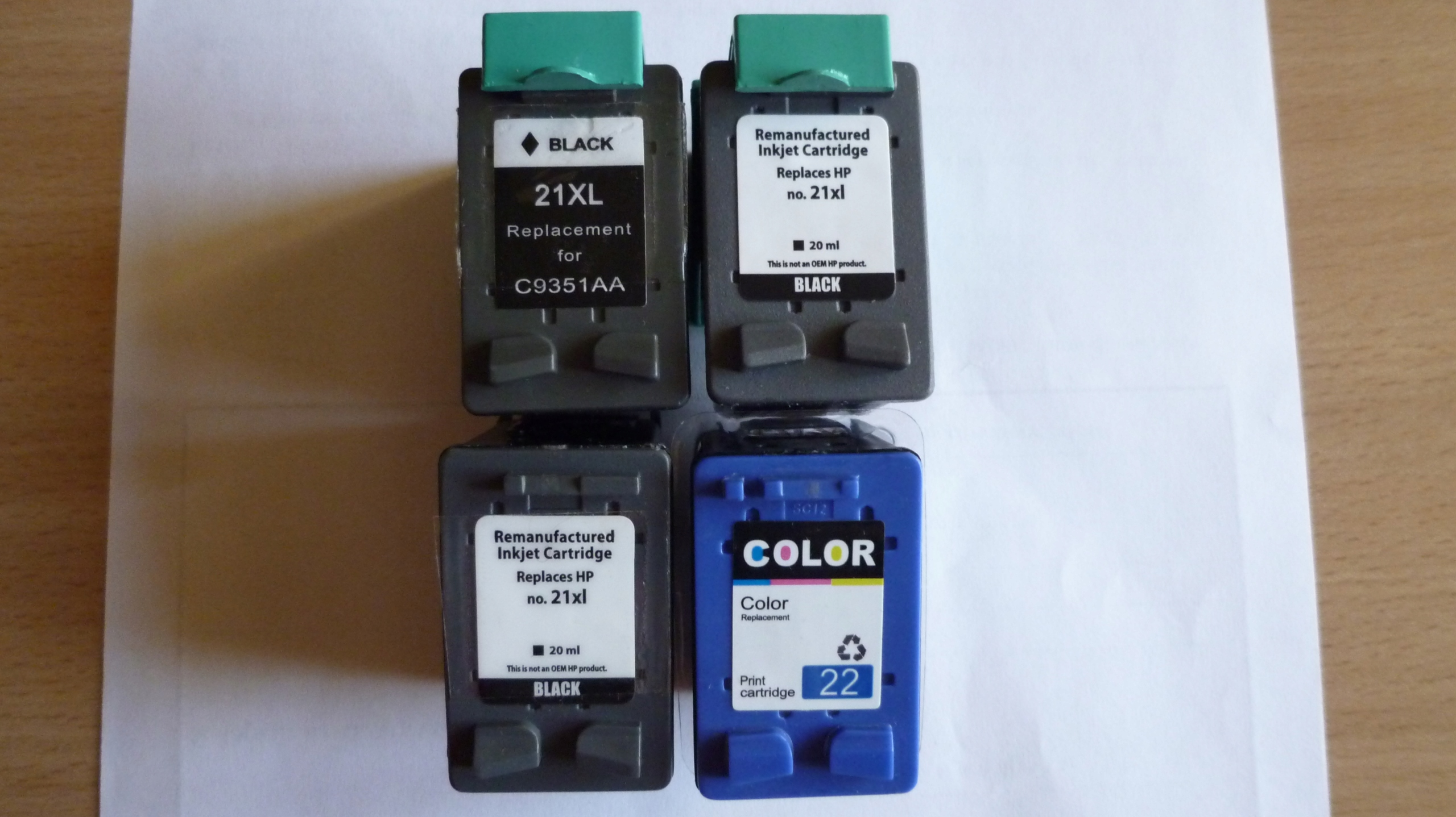 Puste cartridge HP21,HP22.