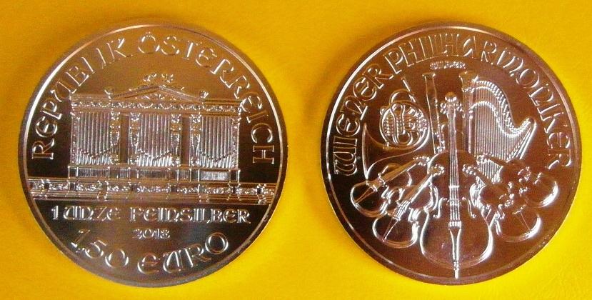 WIEDEŃSKI FILHARMONIK 1,5 EURO uncja SREBRO 1oz Ag