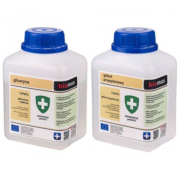 Gliceryna Roślinna 0,5kg + Glikol Propylenowy 0,5L