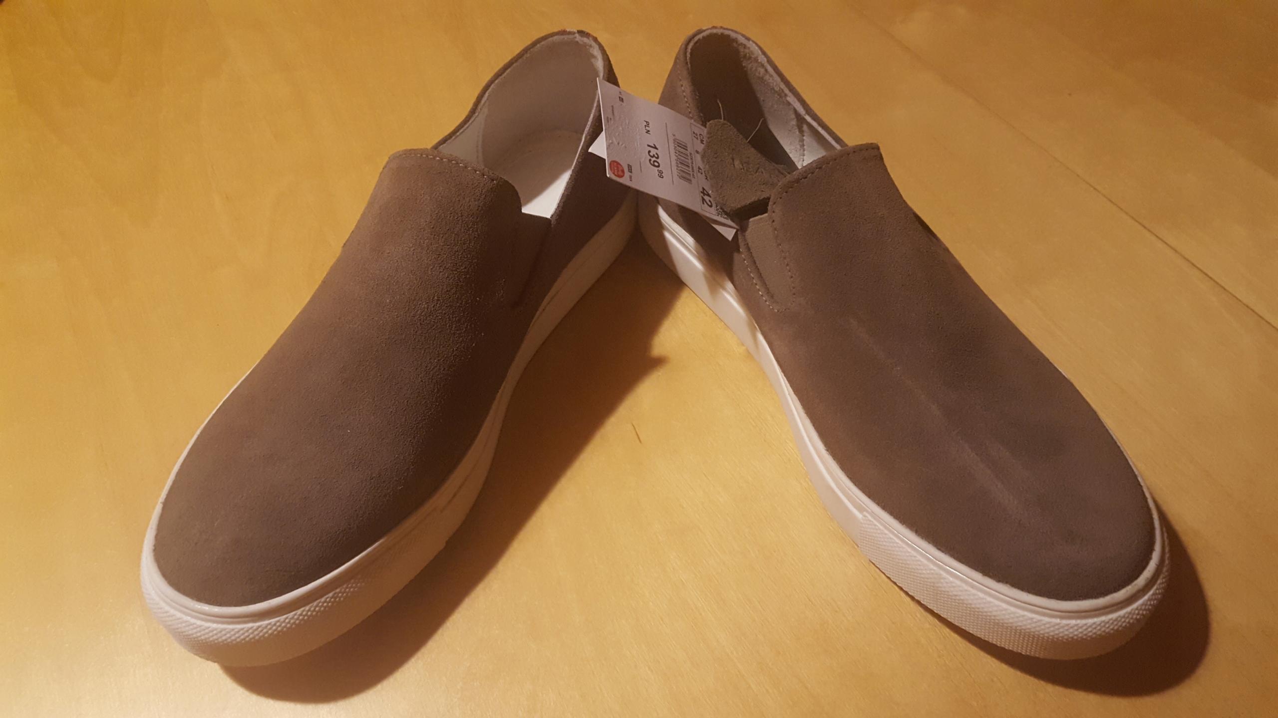 3c9e8a1a Zamszowe buty slip-on - Buty męskie RESERVED - 7457330570 ...
