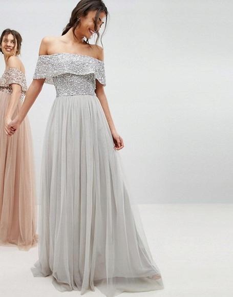 0b28515bdc B826 MAYA TALL sukienka cekiny tiul cekiny 42 - 7697429998 - oficjalne  archiwum allegro