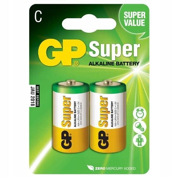Bateria alkaliczna, LR14, 1.5V, GP, blistr, 2-pack