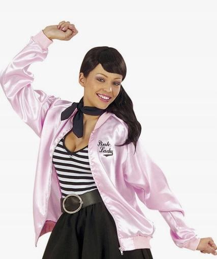 546 Retro kurtka Pink Ladies lata 50-te kostium M
