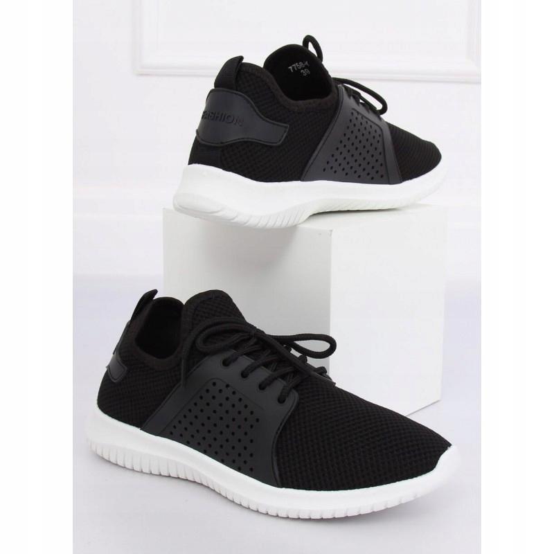 Buty sportowe czarne 7758 Y BLACK 37