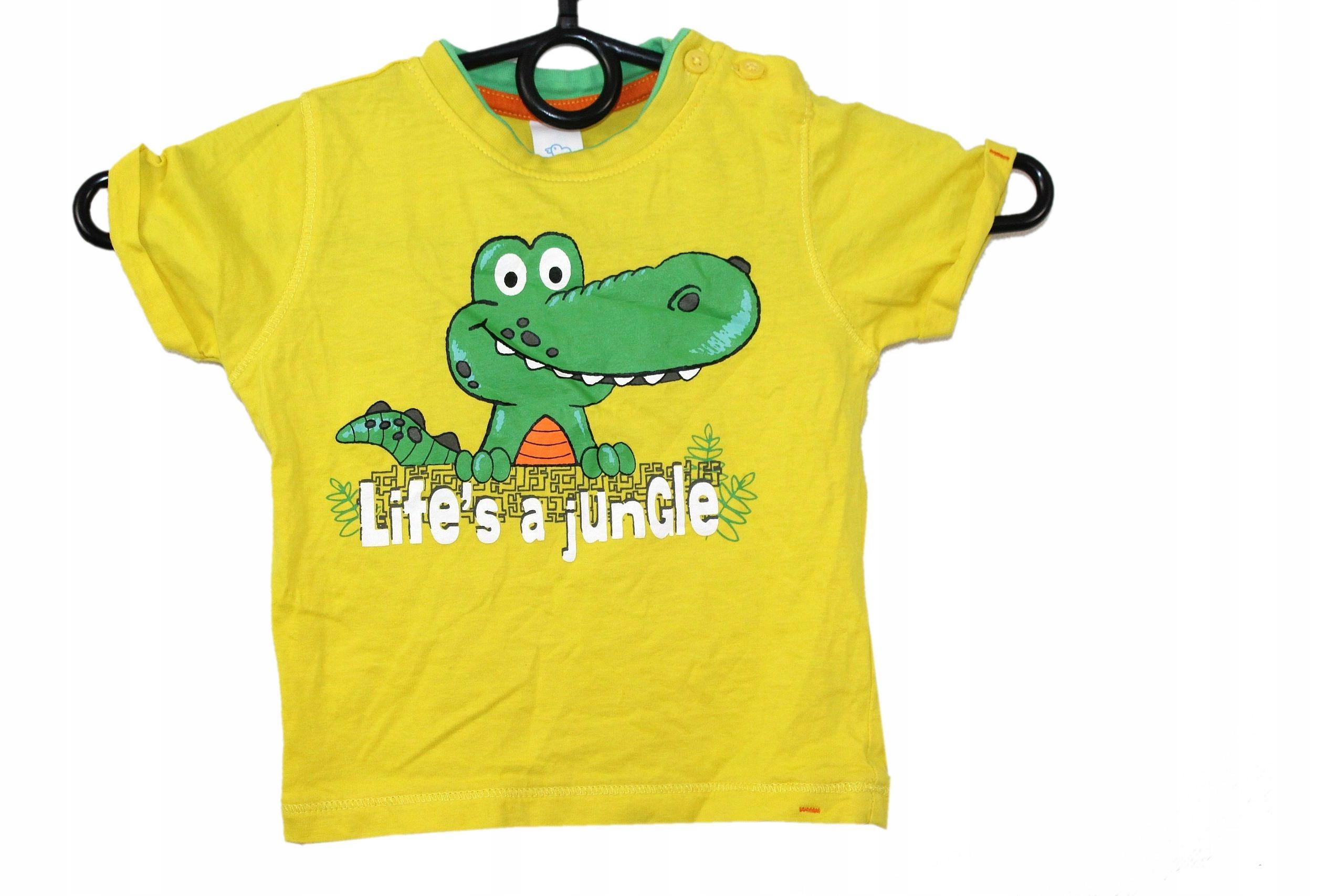 l3_C&A_ Chłopięca Koszulka T-shirt Nadruk___80