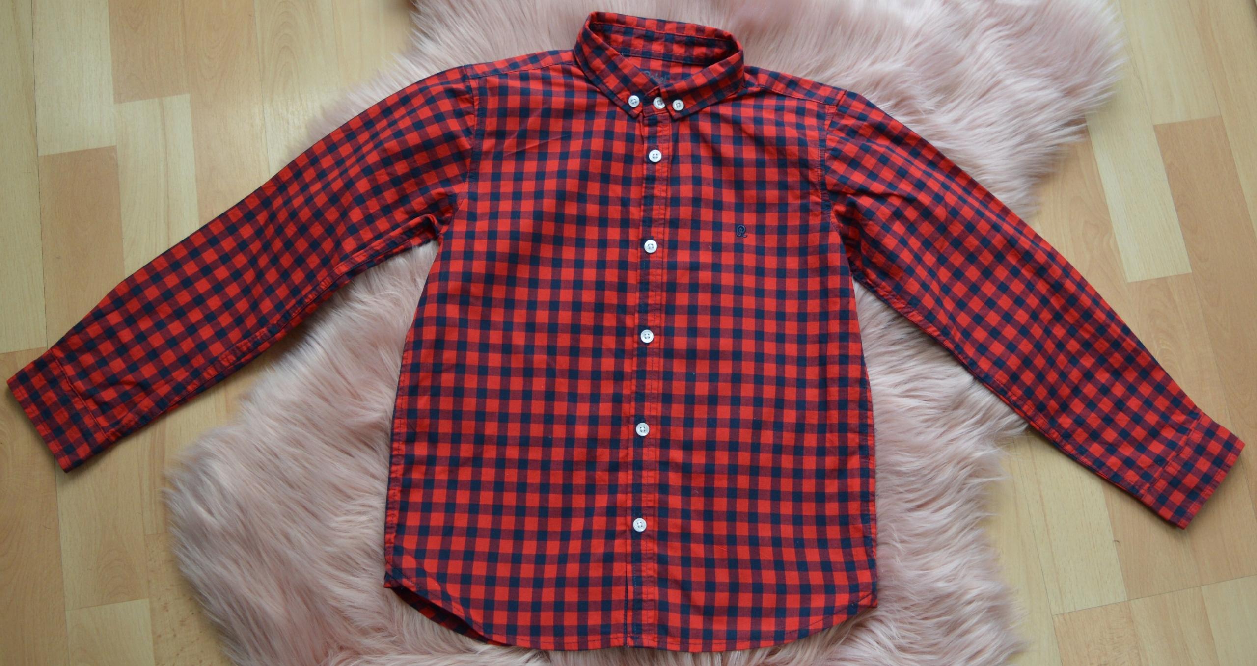 koszula czerwona kratka Rebel 7-8 lat 122-128cm