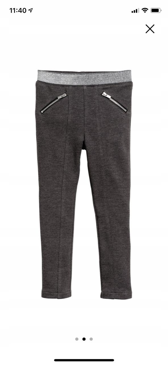 H&M spodnie TREGGINSY legginsy getry 104