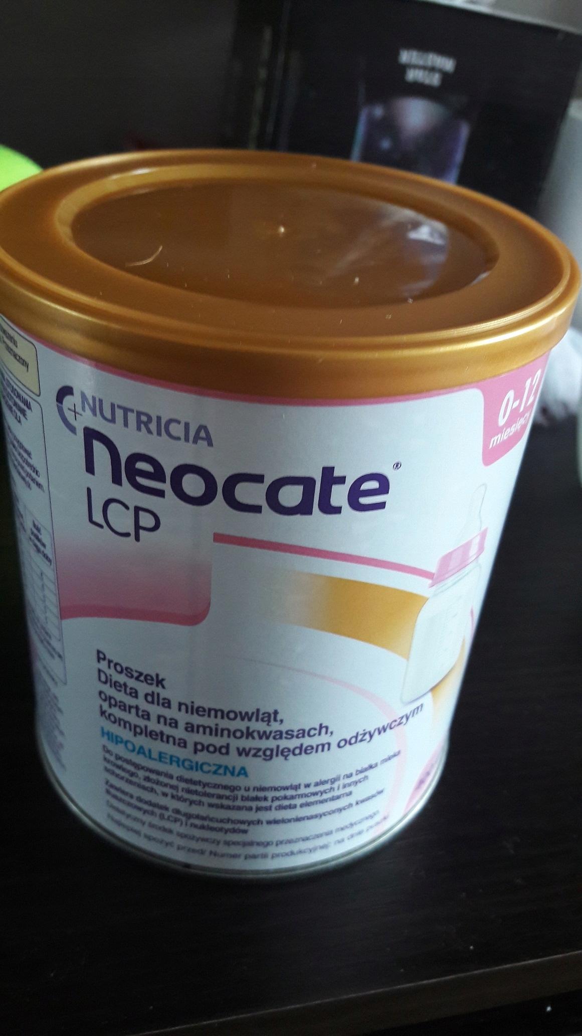 Specjalistyczne mleko Neocate LCP 0 do 12 msc NAJT