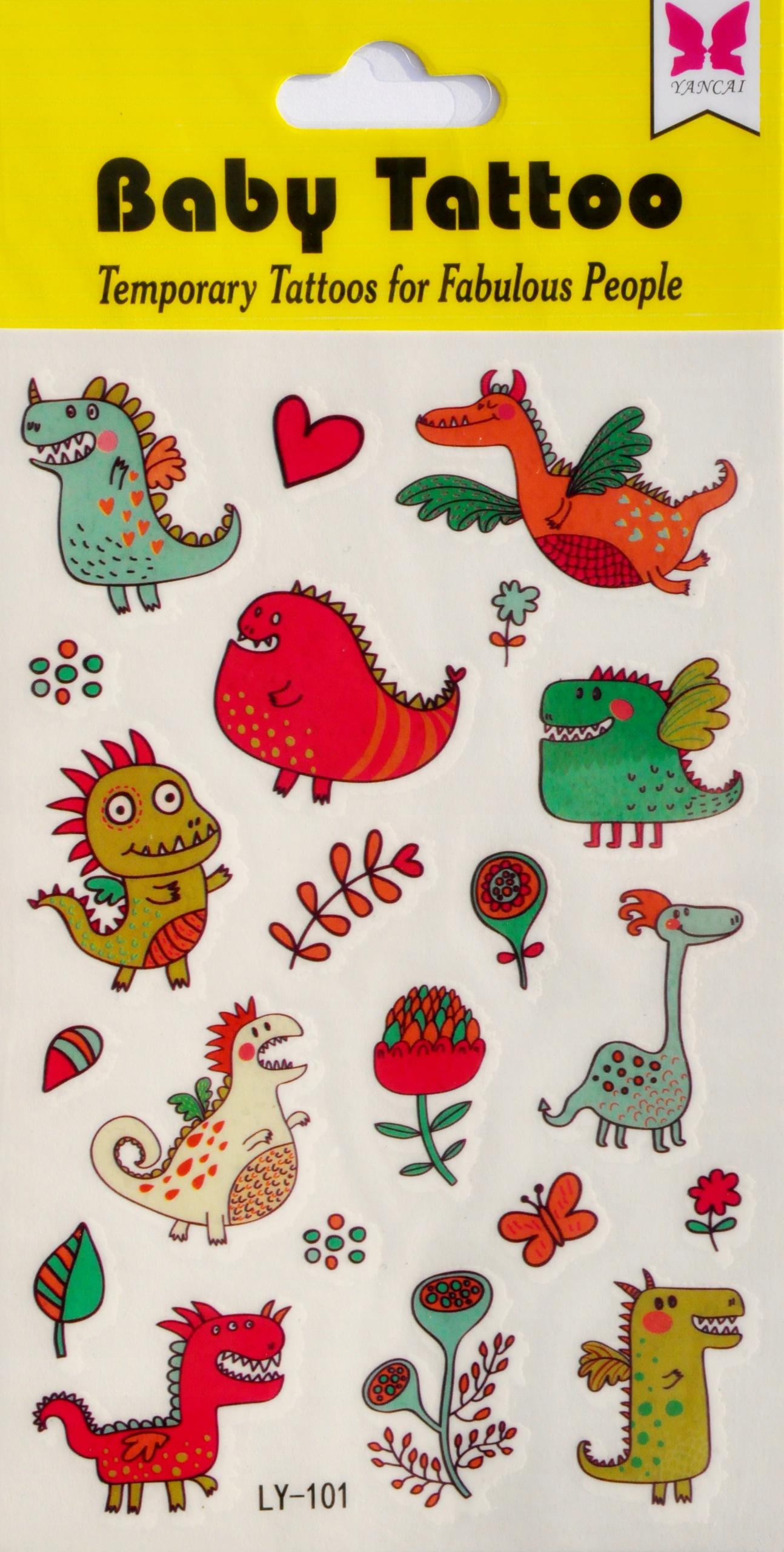 Tatuaże Tatuaż Dla Dzieci Zmywalne Smoki Dinozaury