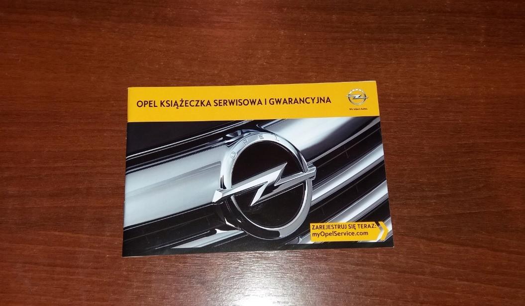 Oryginalna Książka Serwisowa Opel 2013 PL Polska