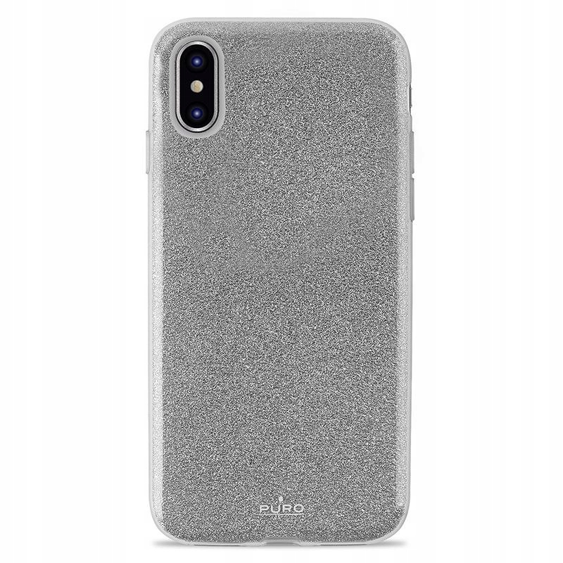 PURO Glitter Shine Cover - Etui iPhone Xs Max (Sil