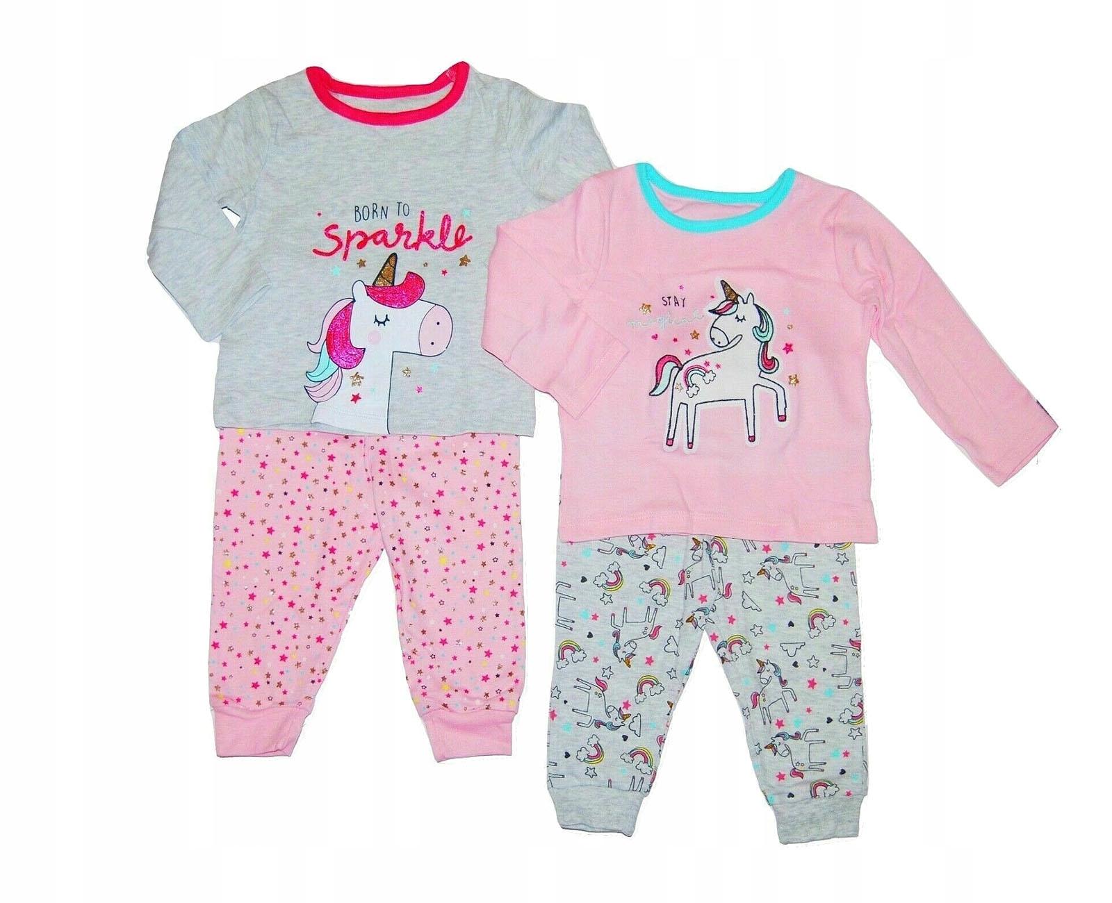 PRIMARK piżama 98 2-3 Jednorożec kolory 2 pac