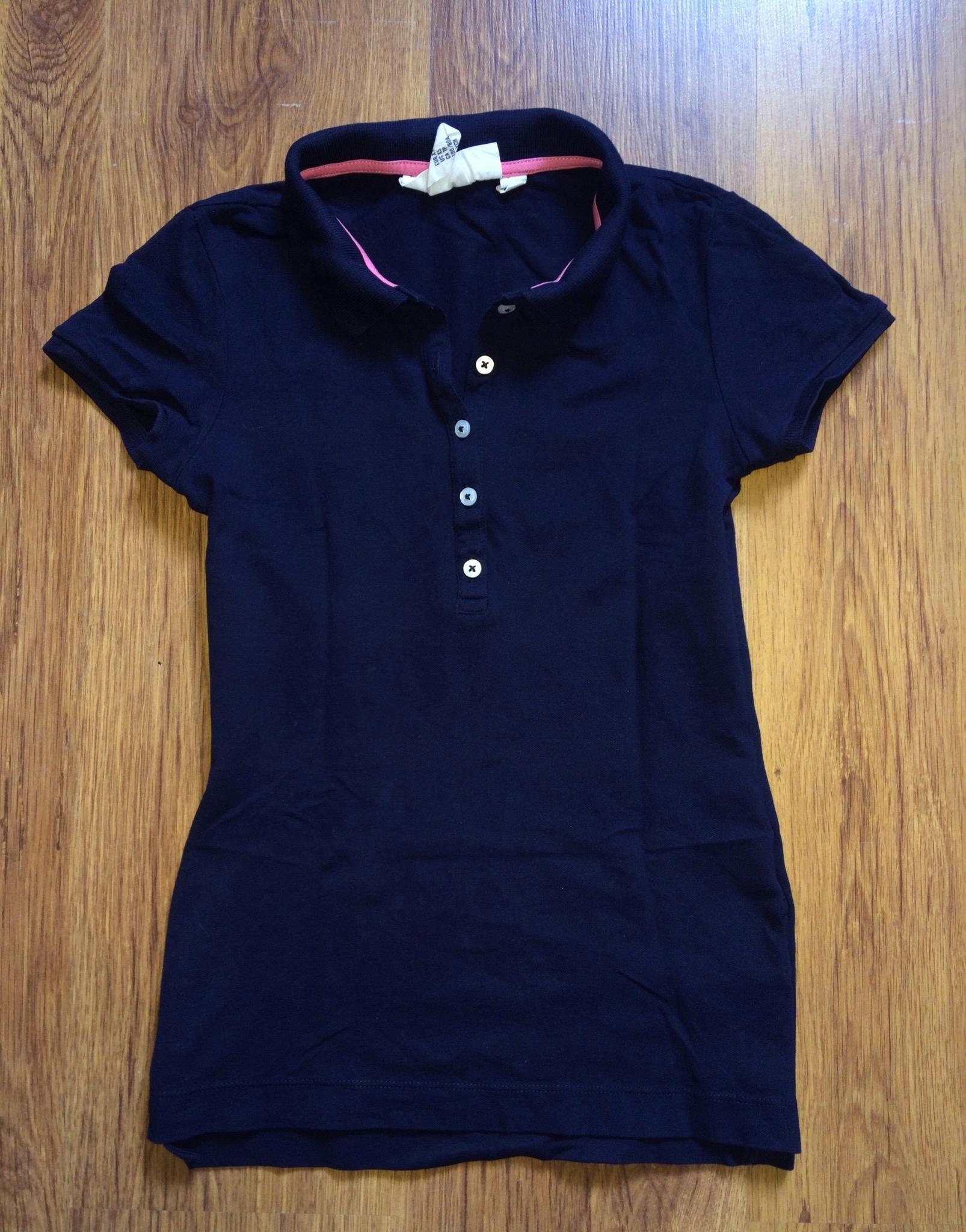 Koszulka polo Damska T-shirt granatowa H&M