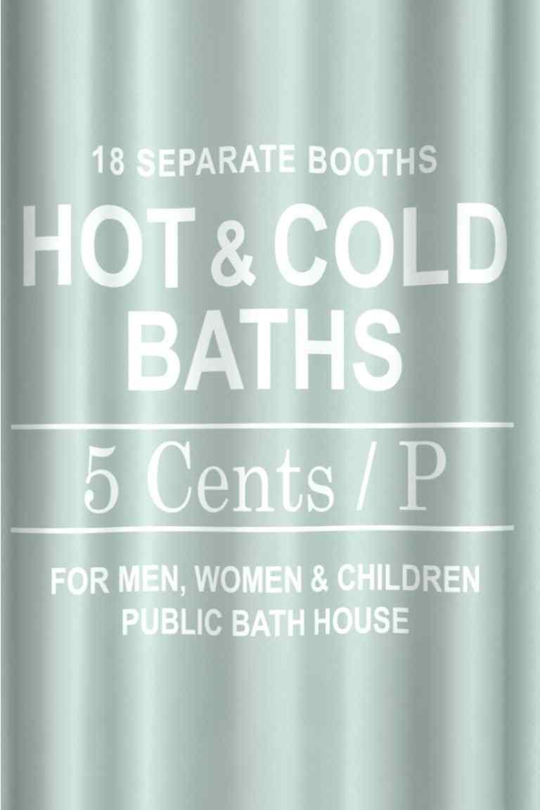 H&M Home Zasłona prysznicowa MIĘTA PRINT 180x2