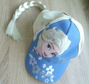 Czapka z daszkiem i warkoczem Elsa Disney