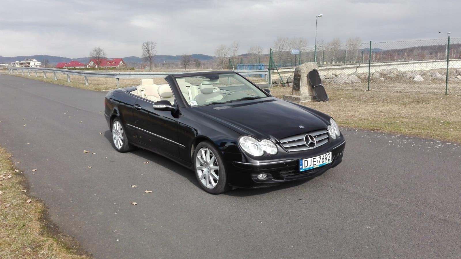 Mercedes CLK200 cabrio, lift, xenon, łopatki