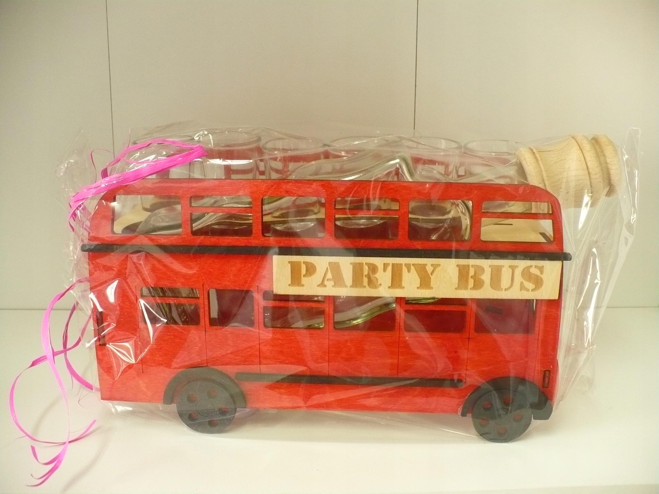 Karafka, zestaw kieliszków Party Bus, Autobus